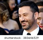 jimmy kimmel at the 88th annual ... | Shutterstock . vector #383646529