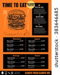 restaurant food menu design... | Shutterstock .eps vector #383646685