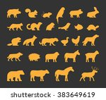 Gold Silhouettes Set Of...
