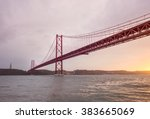 Tejo River View Of Ponte 25 De...