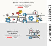 search engine optimization for... | Shutterstock .eps vector #383665675