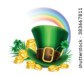 st. patrick's day green... | Shutterstock .eps vector #383667811