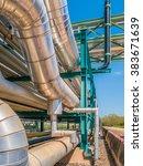 chemical pipe line transfer on... | Shutterstock . vector #383671639