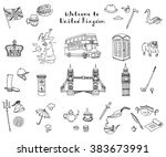 hand drawn doodle united...   Shutterstock .eps vector #383673991