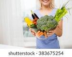 healthy eating  vegetarian food ... | Shutterstock . vector #383675254