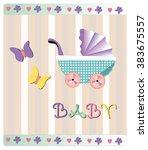 vector illustration of baby... | Shutterstock .eps vector #383675557