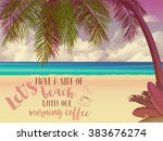 summer holidays inspirational... | Shutterstock .eps vector #383676274