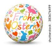 colorful 3d vector sphere  ... | Shutterstock .eps vector #383676499