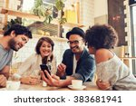 portrait of a group of young... | Shutterstock . vector #383681941