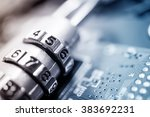 combination padlock on... | Shutterstock . vector #383692231