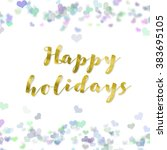 happy holiday  clipping path   | Shutterstock . vector #383695105