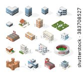 isometric high quality city... | Shutterstock .eps vector #383708527