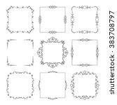 vintage square frames set... | Shutterstock .eps vector #383708797