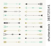 tribal elements collection....   Shutterstock .eps vector #383725141