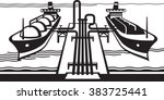 export gas tank terminal with... | Shutterstock .eps vector #383725441