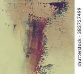 abstract grunge brush stroke...   Shutterstock . vector #383727499