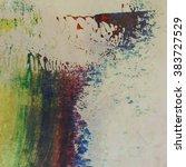 abstract grunge brush stroke...   Shutterstock . vector #383727529