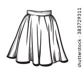 skirt hand drawn vector... | Shutterstock .eps vector #383729311