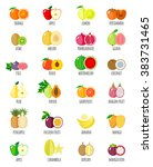 set of fruit icons. isolated... | Shutterstock .eps vector #383731465