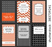 set of greeting cards design in ... | Shutterstock .eps vector #383739241