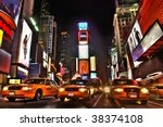 new york times square at night. ... | Shutterstock . vector #38374108