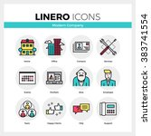 line icons set of business...