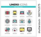 Line Icons Set Of Database...