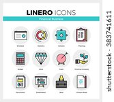 line icons set of financial... | Shutterstock .eps vector #383741611