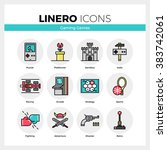 line icons set of video game... | Shutterstock .eps vector #383742061