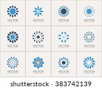 geometric logo template set.... | Shutterstock .eps vector #383742139