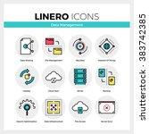 line icons set of network data... | Shutterstock .eps vector #383742385