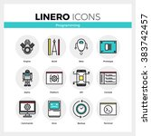 line icons set of computer... | Shutterstock .eps vector #383742457
