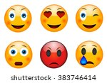 set of emoticons  emoji... | Shutterstock .eps vector #383746414