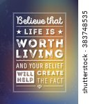 vector typography poster with... | Shutterstock .eps vector #383748535