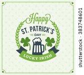 st. patricks day vintage... | Shutterstock .eps vector #383748601