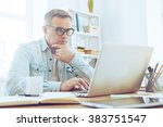 confident and concentrated.... | Shutterstock . vector #383751547