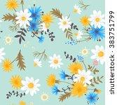meadow flowers. seamless pattern | Shutterstock .eps vector #383751799