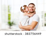 happy family and father's day.... | Shutterstock . vector #383756449