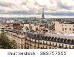Panorama Of Paris On The Sunse...