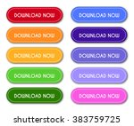 set of 'download now' buttons | Shutterstock .eps vector #383759725