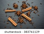 Cinnamon Sticks  Anise On A...