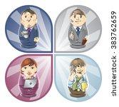 business dolls | Shutterstock .eps vector #383762659