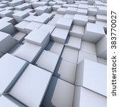 abstract white cubes 3d... | Shutterstock . vector #383770027