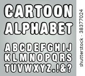 vector cartoon alphabet | Shutterstock .eps vector #38377024