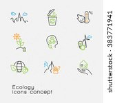 modern thin line icons set of... | Shutterstock .eps vector #383771941