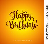 happy birthday inscription 3 | Shutterstock .eps vector #383778331
