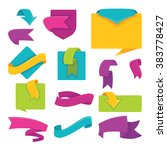 bright flags  banners  tags and ... | Shutterstock .eps vector #383778427