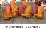 Wooden Chairs - stock photo