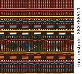 decorative bright ethnic... | Shutterstock .eps vector #383788951