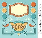 retro american 1950s sign... | Shutterstock .eps vector #383794075